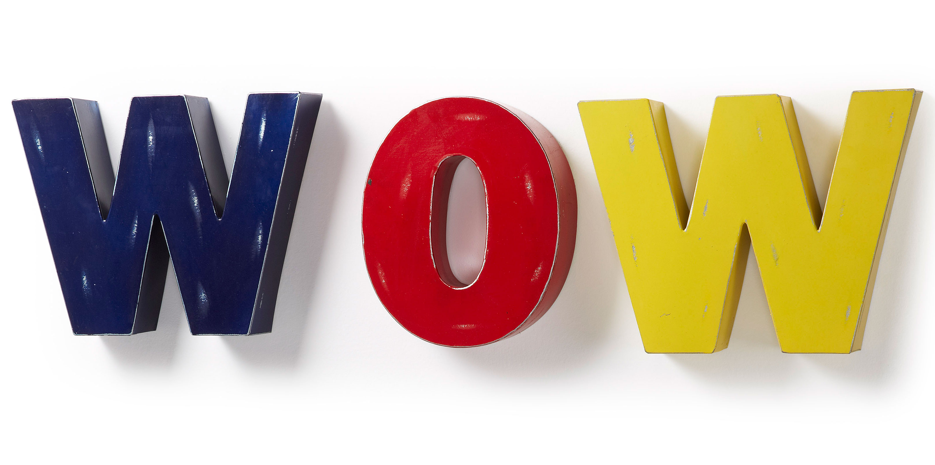 set 3 letras decorativas wow - Letras Decorativas