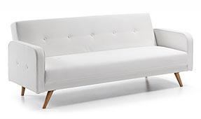 Sofá cama retro blanco Roger