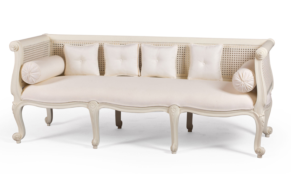 Sof franc s ratt n blanco no disponible en for Muebles terraza rattan pvc chile