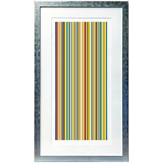 Cuadro rayas stripes two en for Muebles pintados a rayas