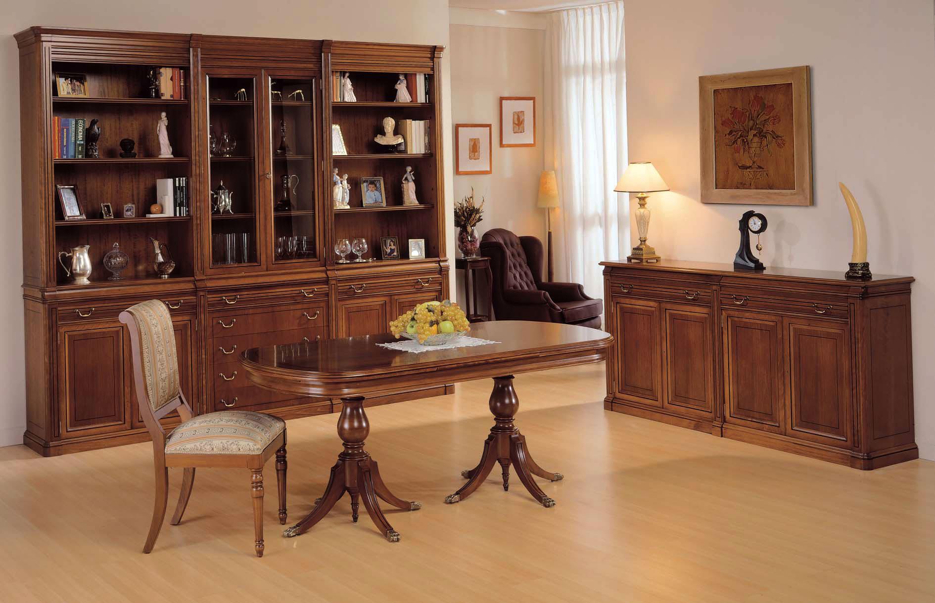 Mesa de comedor extensible oval regencia en cosas de for Muebles comedor clasicos