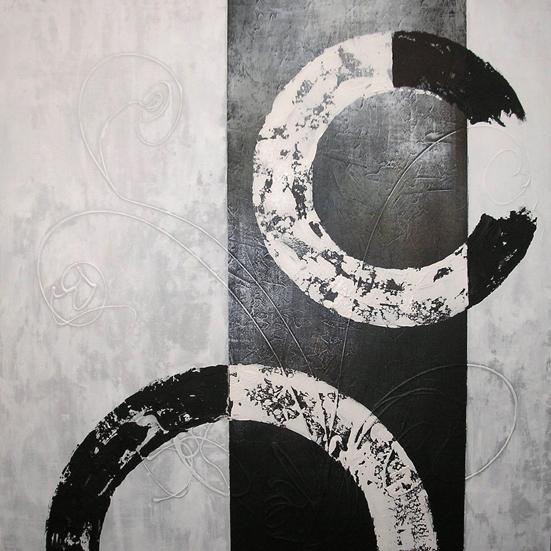 Cuadro circulos blanco y negro i en cosas de - Cuadro blanco y negro ...