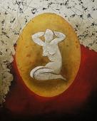 Cuadro Ovalo Mujer I - Cuadros serigrafiados - Objetos de Decoración