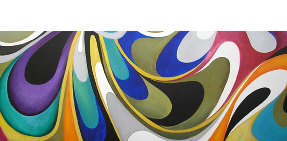 Cuadro pintura abstracto olas colores i en cosas de for Fotos para cuadros grandes