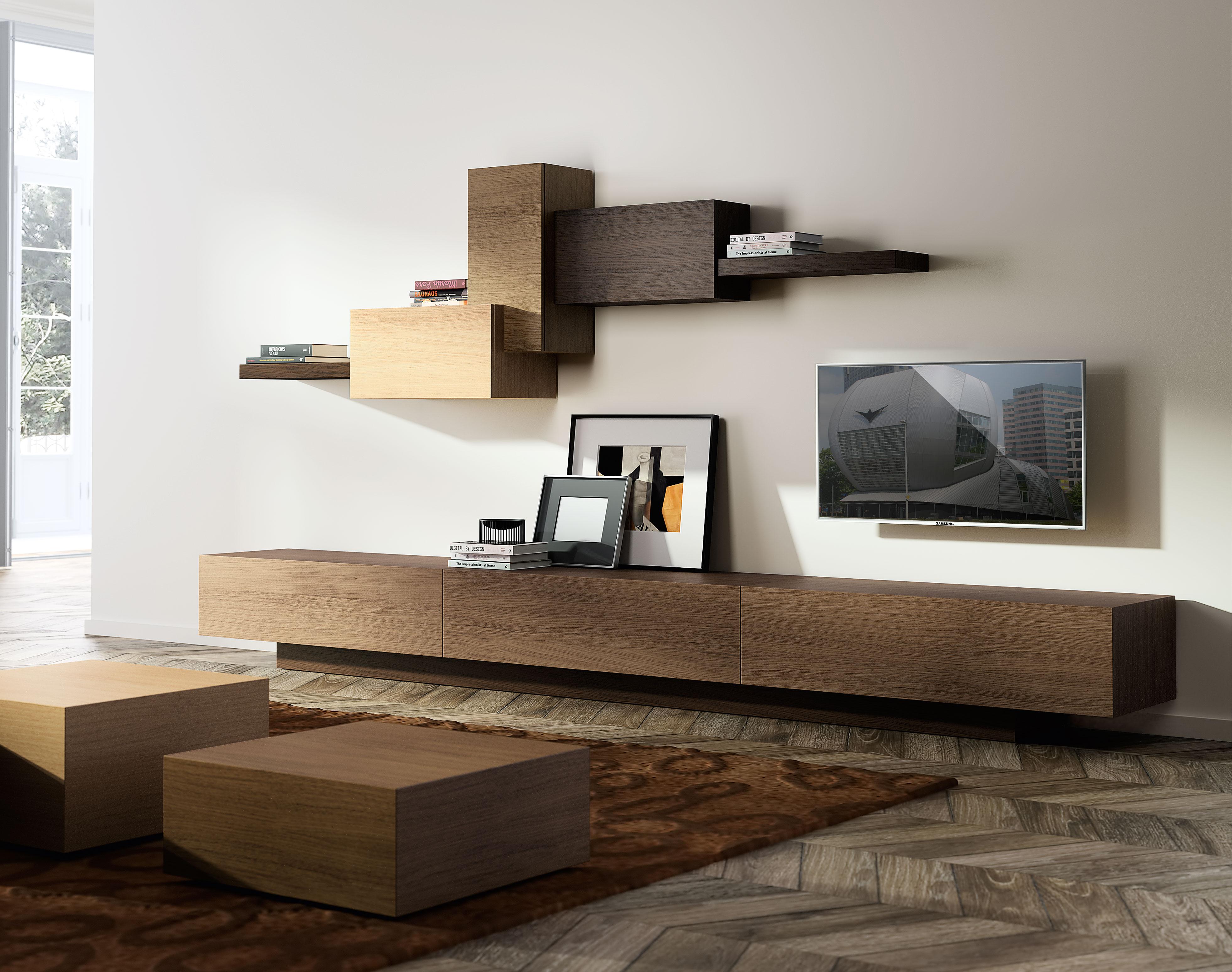 Sal N 3 Cajones Moderno Cubista En Cosas De Arquitectoscosas De  # Muebles Suspendidos Salon
