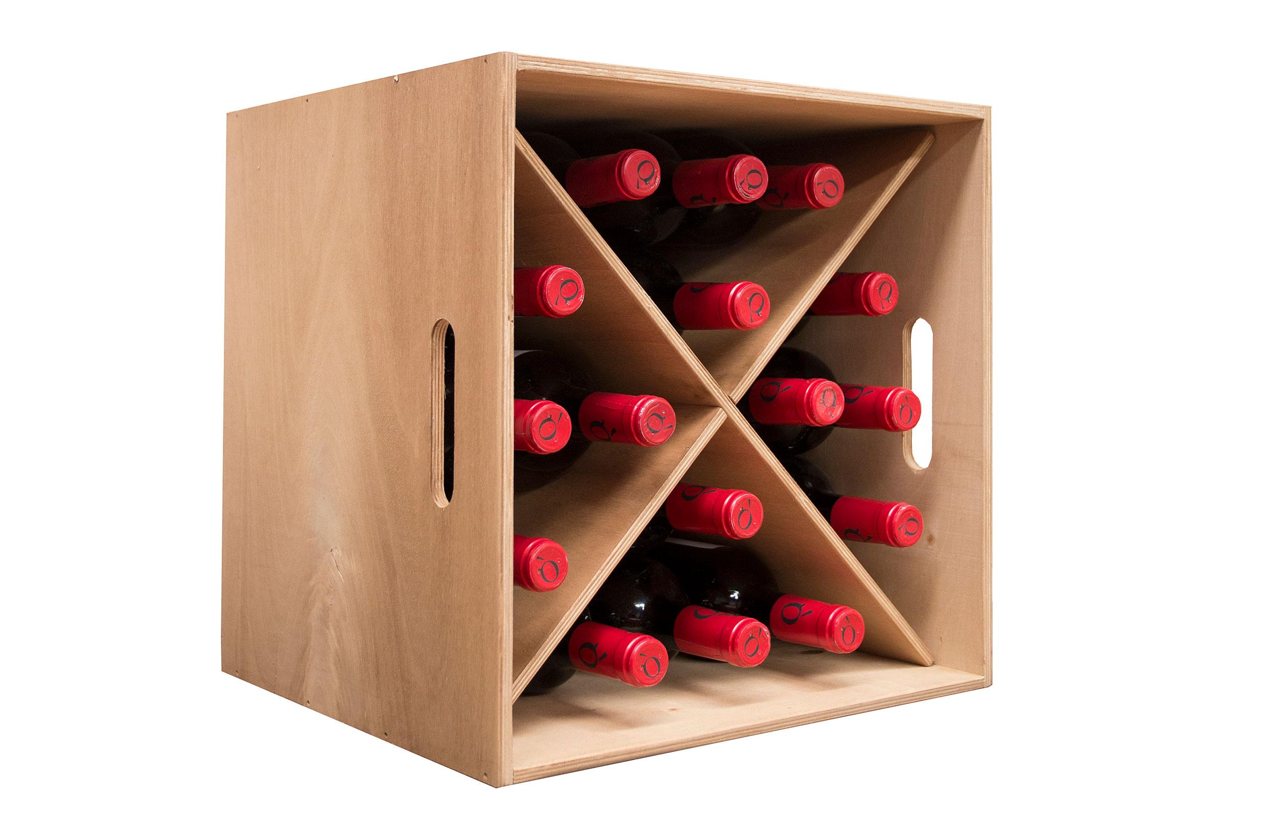 Botellero En Roble Capacidad Para 16 Botellas En Cosas De  # Muebles Botelleros
