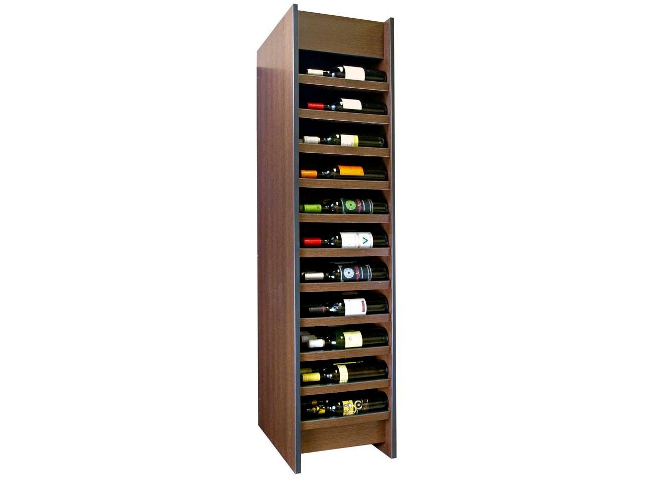 Expositor para vino syrah con capacidad para 66 botellas for Muebles para vinotecas