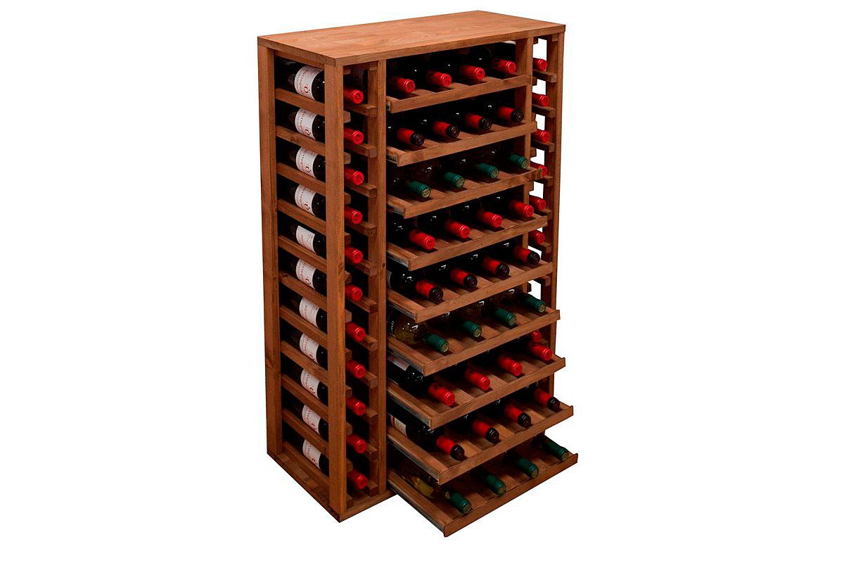 Botellero pino capacidad para 58 botellas en Portobellostreet.es