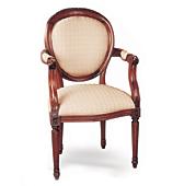 Sillón Clásico Frances Oval - Sillas y Sillones Clásicos - Muebles Clásicos