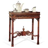 Mesa de té calada chinesca