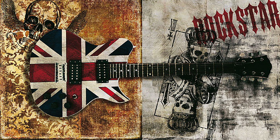 Cuadro canvas moderno rockstar