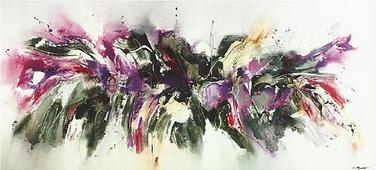 Cuadro abstracto bjorn violeta