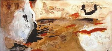 Cuadro abstracto gestual 09