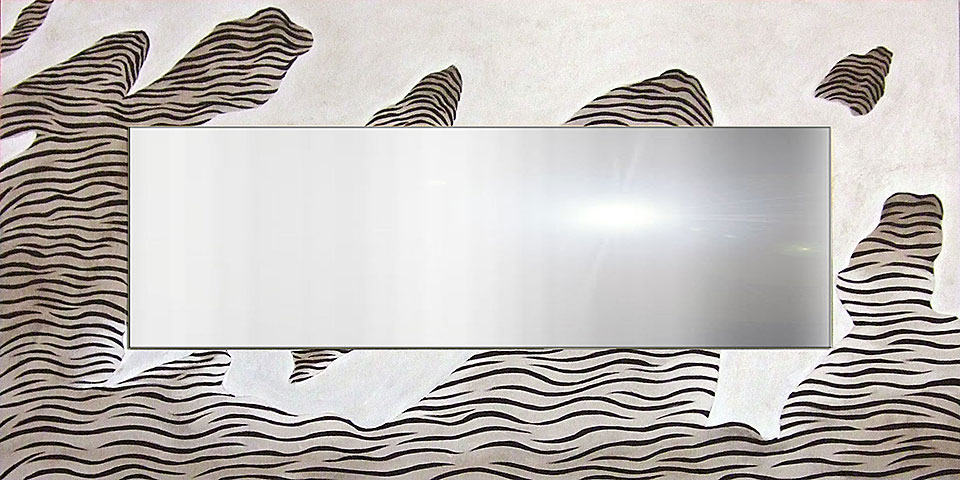 Espejo artesanal cebra