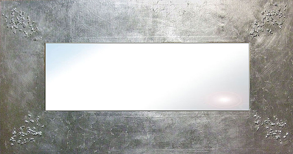 Espejo artesanal plata I