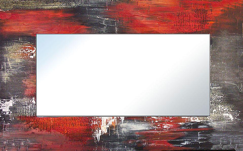 Espejo artesanal abstracto