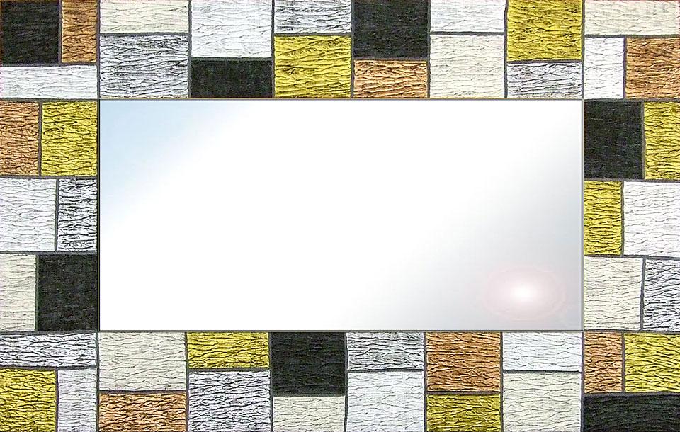 Espejo artesanal cuadritos II
