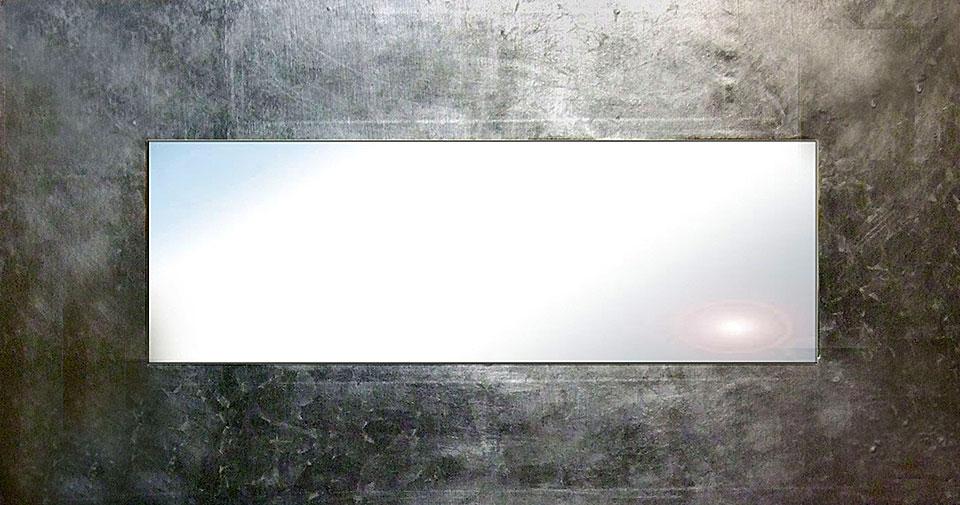 Espejo artesanal plata II