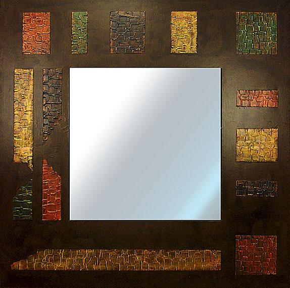 Espejo artesanal trozos de colores no disponible en Portobellostreet