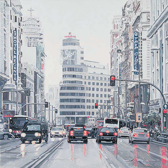 Cuadro enmarcacion gran via blizzard madrid no disponible - Portobello madrid muebles ...