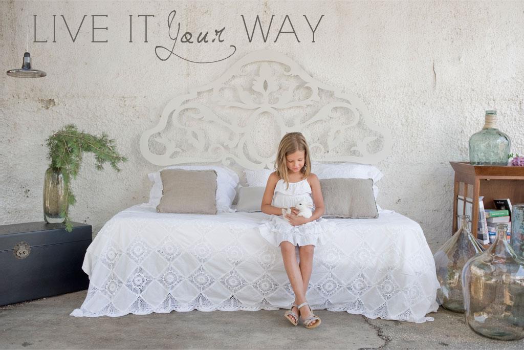 Cabecero vintage blanco roto no disponible en - Muebles blanco vintage ...