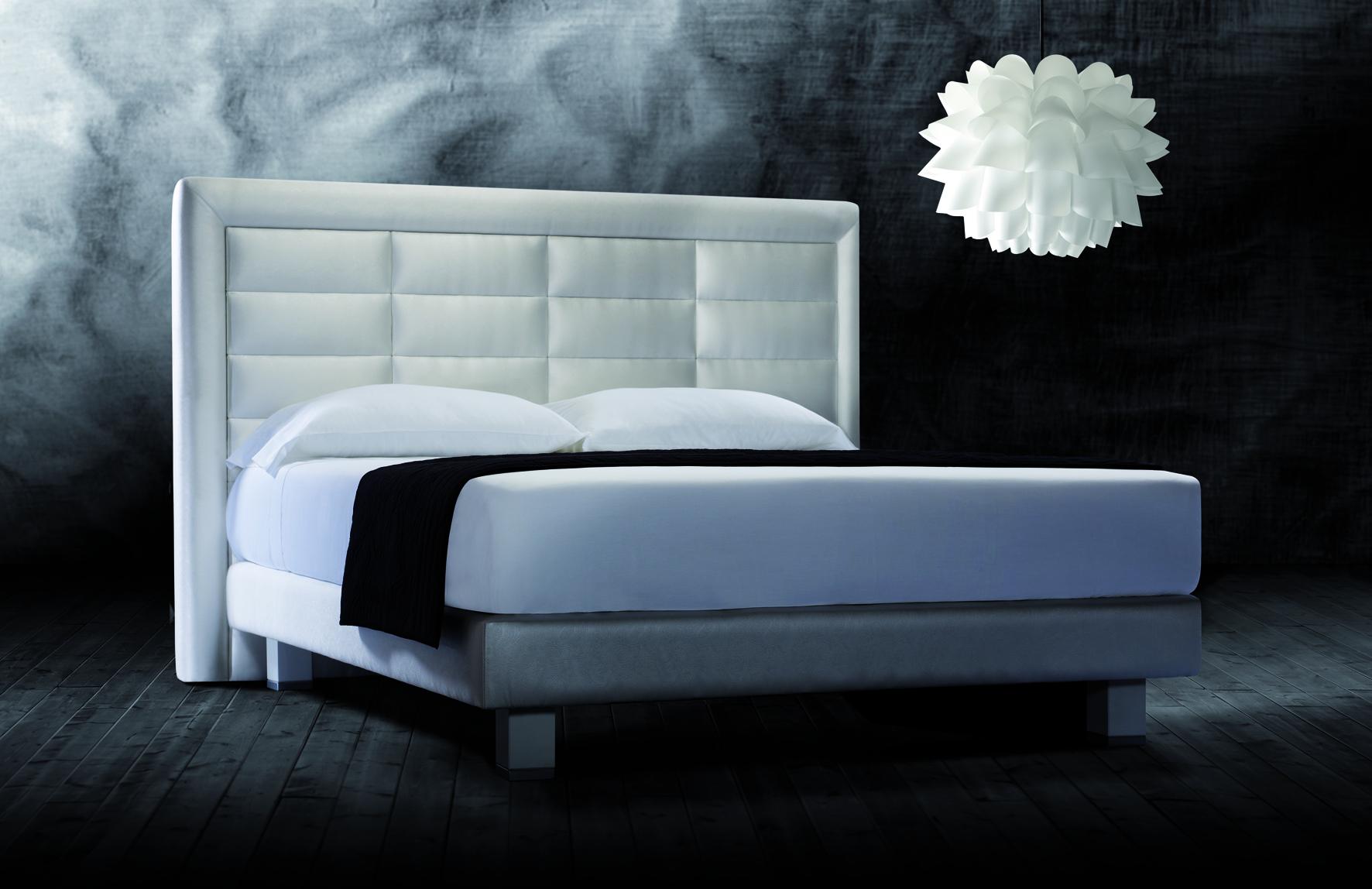 Cama piel aura en - Cabeceros de cama tapizados en piel ...