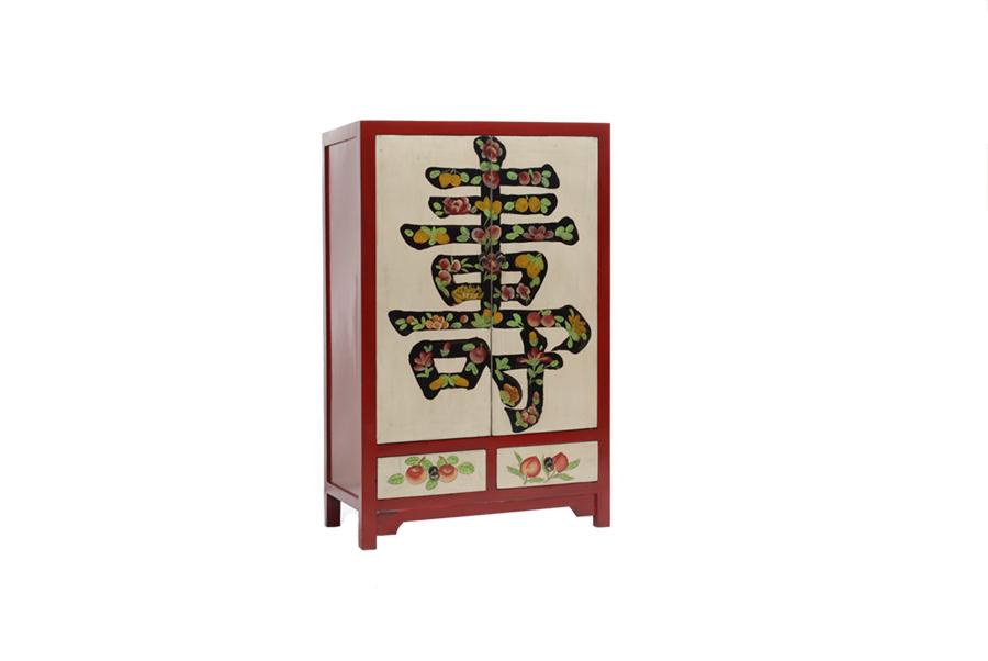 Armario oriental policromado en for Muebles chinos outlet