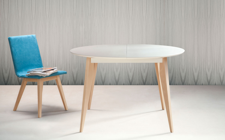 mesa redonda extensible de comedor karen mesa extensible ...