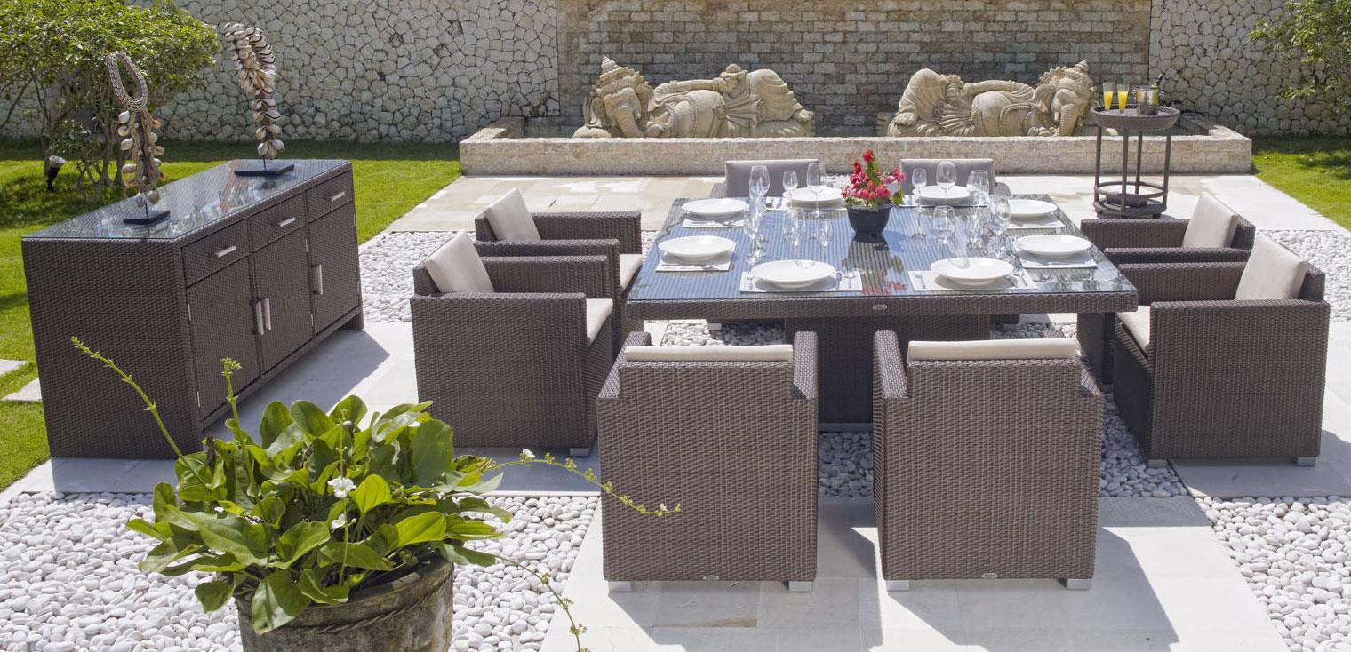 Comedores de exterior para jardín, balcón o terraza - Verdecora