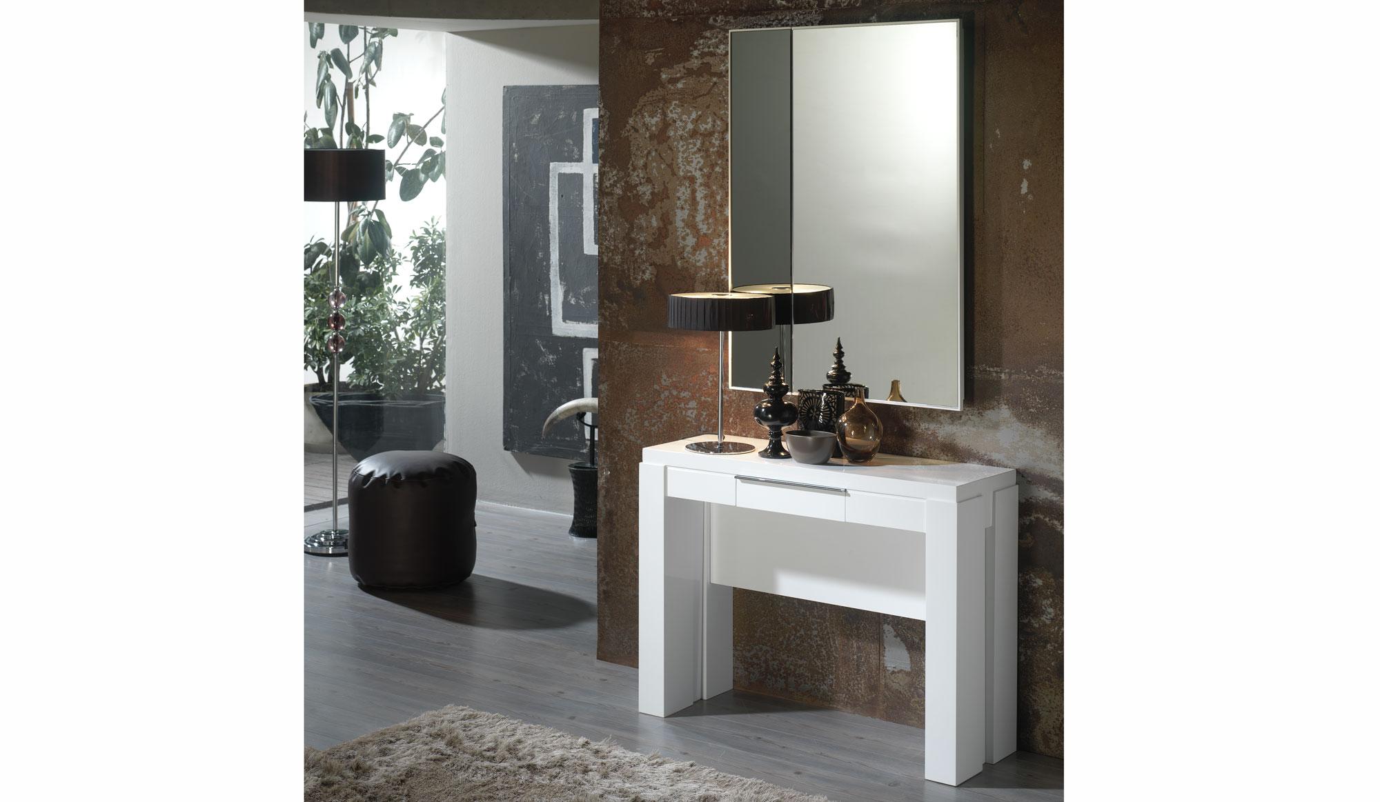 Consola mesa de comedor extensible moderna dirfon en cosas - Mesas de comedor de diseno extensibles ...
