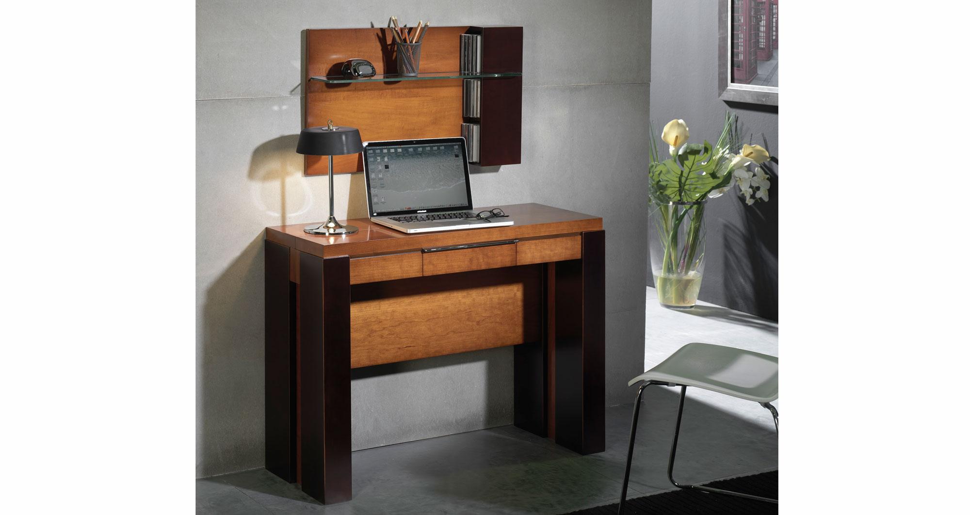Consola mesa de comedor extensible moderna watson en cosas for Mesa consola extensible ikea