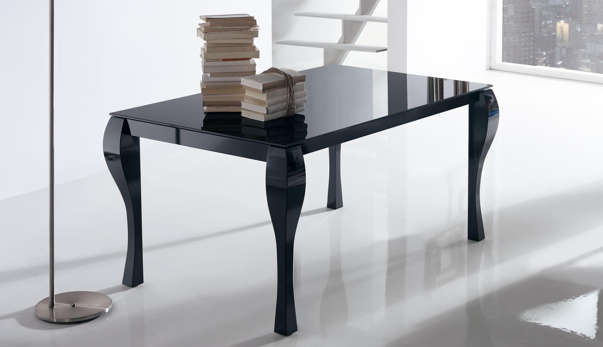 Mesa comedor extensible moderna coloma en cosas de for Mesas modernas para comedor