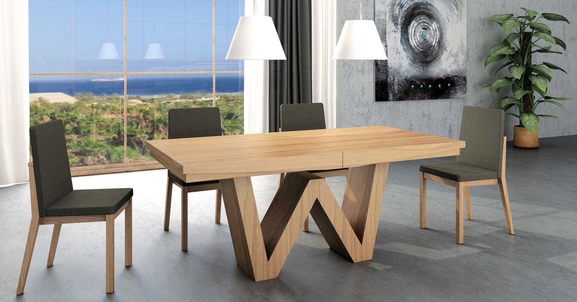 Mesa de comedor extensible moderna wenda en cosas de for Mesas de comedor altas