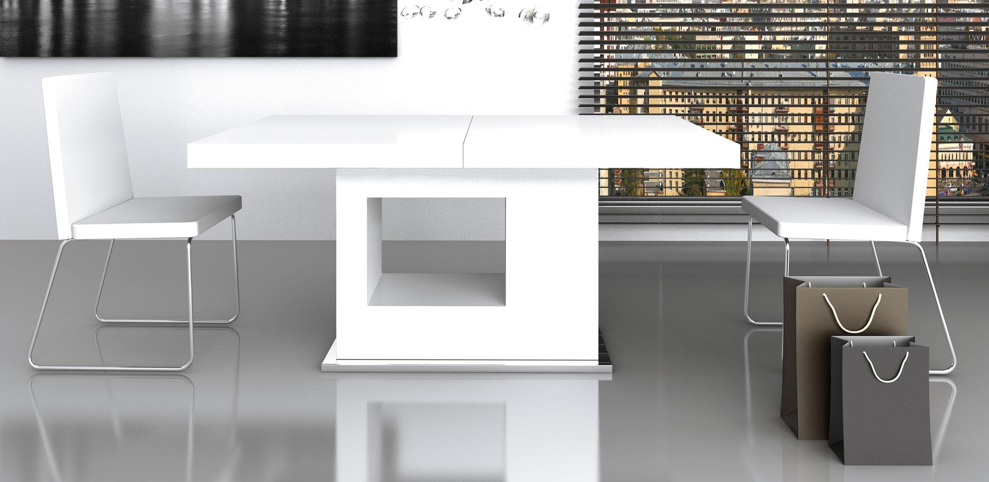 Mesa comedor extensible moderna lucrecia en cosas de for Mesa extensible moderna