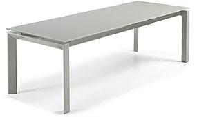 ALKI Mesa Ext Cristal Gris Pie Epoxy Gri - Mesas de Comedor de Diseño - Muebles de Diseño