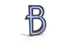 Aplique letra B azul