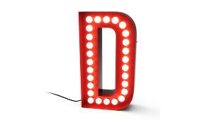 Aplique letra D rojo