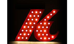 Aplique letra K rojo