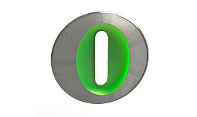 Aplique letra O verde