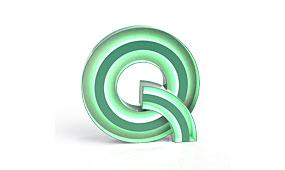 Aplique letra Q verde