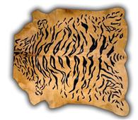 Alfombra Tigre piel entera impresa - Alfombras de Piel Natural - Objetos de Decoración