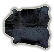 Alfombra piel entera toro normando teñido negro