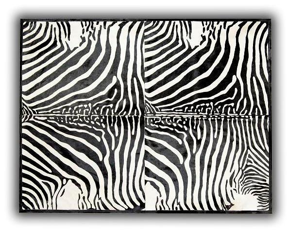 Alfombra piel toro impreso cebra 4 piezas 140x200c en - Alfombras de cebra ...