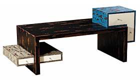Mesa de centro vintage 3 cajones Lanne