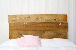 Cabecero natural mariposas  - Cabeceros y Camas de Madera - Muebles Coloniales y Muebles Rústicos