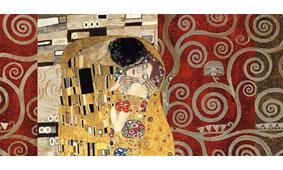 Cuadro canvas klimt el beso - Cuadros serigrafiados - Objetos de Decoración
