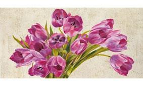 Cuadro canvas tulipes - Cuadros serigrafiados - Objetos de Decoración