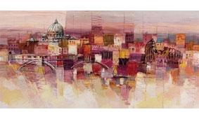 Cuadro canvas sognando roma - Cuadros serigrafiados - Objetos de Decoración