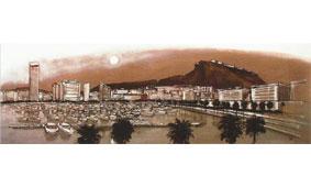 Cuadro Alicante puerto