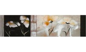 Cuadro flores blancas apaisadas